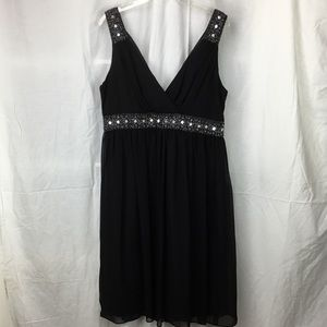 Gorgeous chiffon cocktail dress with beaded accent